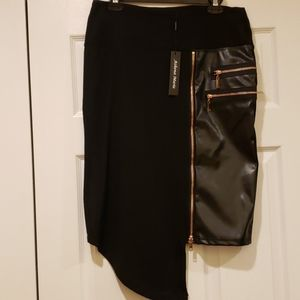 ATHENA MARIE BLACK SKIRT W/ ROSE GOLD ZIPPERS